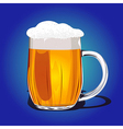 Mug fresh beer vector image