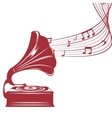 old gramophone isolated icon design vector image vector image