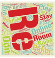 Online Poker Room Psych text background wordcloud vector image vector image