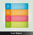 options tab template vector image