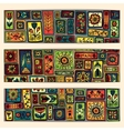 Paisley batik background Ethnic african cards vector image