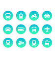 passenger transport icons vector image vector image
