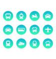 passenger transport icons vector image