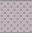 pink and gray geometric triangle seamless vector image vector image