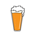 pixelated beer glass icon vector image vector image