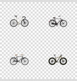 realistic fashionable road velocity bmx and vector image vector image