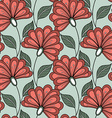 Seamless Floral Pattern Hand Drawn Floral Texture vector image vector image