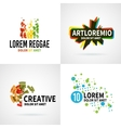set modern colorful abstract logo emblem vector image