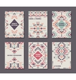 set of six cards Ethnic ornate pattern vector image vector image