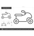 sport bike line icon vector image vector image