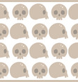 style skulls faces seamless pattern background vector image vector image