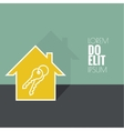 The concept of the house turnkey vector image vector image