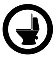 toilet bowl icon black color in circle vector image vector image