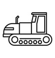 tracked tractor icon outline style vector image vector image