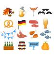 traditional symbols oktoberfest icons set vector image vector image