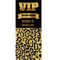 vip club party premium invitation card flyer vector image vector image