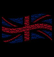 waving united kingdom flag mosaic of fart gases vector image vector image