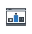 website ranking glyph icon vector image