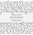 Wedding card with paper lace frame lacy doily