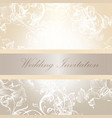 wedding invitation card in soft colors vector image vector image