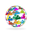 world people icon vector image vector image