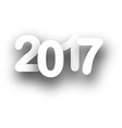 2017 New Year white background vector image vector image