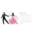 2019 dance calendar september elegant couple vector image vector image