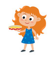 adorable little red-haired vector image vector image
