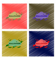 assembly flat shading style icon cloud bats vector image vector image