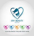 beautiful icons logo for a spa center vector image vector image