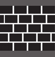 brick wall icon on white background vector image
