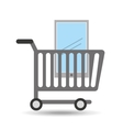 buying cart smartphone mobile design vector image