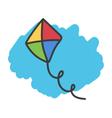 Cartoon doodle kite vector image vector image