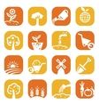 Color gardening icon set vector | Price: 1 Credit (USD $1)