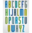 Colorful binary stylish narrow font rounded upper vector image vector image