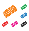 colourful ticket set vector image vector image
