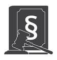concept jurisprudence vector image