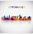 copenhagen skyline silhouette vector image vector image