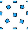 Cute seamless pattern with blue cubes vector image