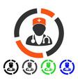 doctor diagram flat icon vector image