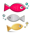 Fish Set vector image vector image