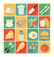 flat icons food vector image