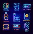 flight label set vector image