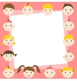 frame with cute boys and girls vector image vector image