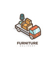 furniture delivery logo vector image