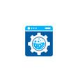 gear laundry logo icon design vector image vector image