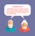 Grandfather and Grandmother with Speech Bubbles vector image vector image