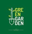 green garden vector image vector image