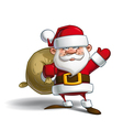 happy santa sack gifts vector image vector image