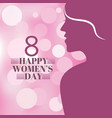happy women day holiday paper cut girl head vector image vector image